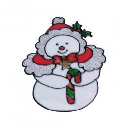 Naklejka żelowa świąteczna na szybę BAŁWANEK