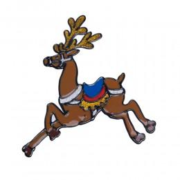 Naklejka żelowa świąteczna na szybę RENIFER