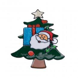 Naklejka żelowa świąteczna na szybę CHOINKA