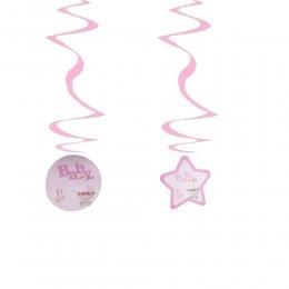 Girlanda serpentyna różowa dla dziewczynki BABY GIRL