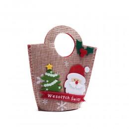 Mała torebka świąteczna filcowa MIKOŁAJ