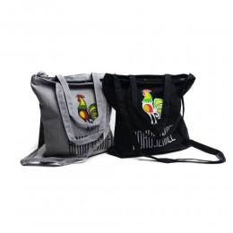 EKO shopperka torba płócienna z suwakiem nadruk KOKOSZANEL