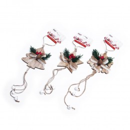 Girlanda dekoracja świąteczna z dzwoneczkami dł. 40cm