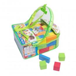 Miękkie kolorowe klocki piankowe dla dzieci 74 elem.