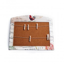 Prowansalska tablica korkowa z klamerkami KOGUT
