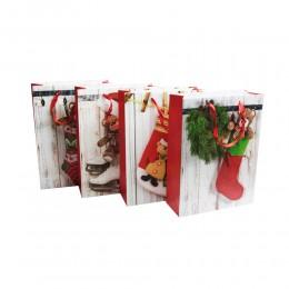 Duża papierowa torba torebka świąteczna na prezenty