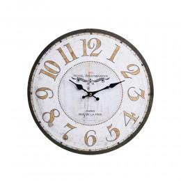 Duży zegar ścienny retro biały PARIS