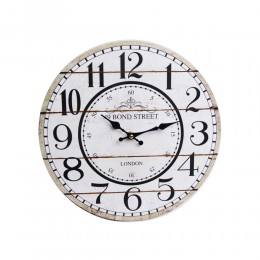 Duży zegar ścienny retro biały LONDON