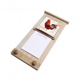 Notatnik notes wieszak kuchenny z kafelką KOGUT