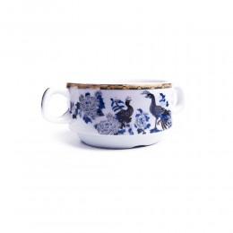 Ceramiczna bulionówka flaczarka 300 ml PAW NIEBIESKI