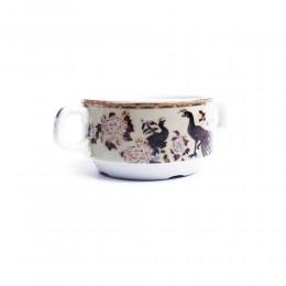 Ceramiczna bulionówka flaczarka ml PAW BRĄZOWY