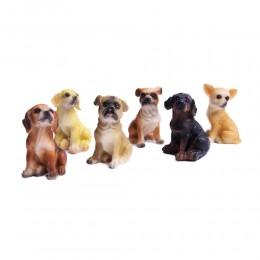 Figurka dekoracyjna siedzącego psa