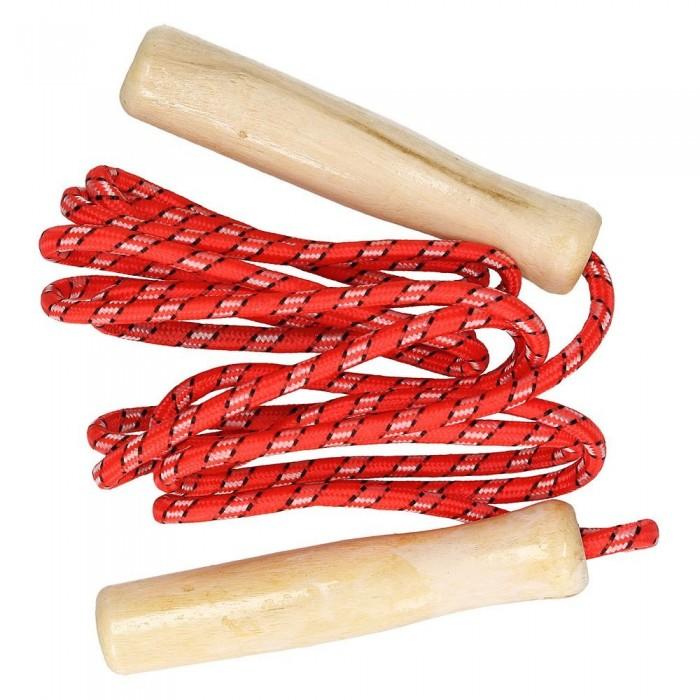Skakanka sznurkowa z drewnianymi rączkami