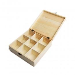 PUDEŁKO drewniane ORGANIZER przybornik DECOUPAGE