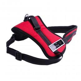 Mocne czerwone szelki dla dużego psa do pracy i szkolenia XXL