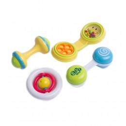 Kolorowe grzechotki gryzaki dla dzieci zestaw 4 szt.