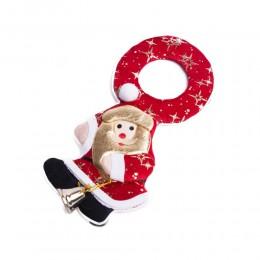 Zawieszka dekoracja świąteczna Święty Mikołaj z dzwoneczkiem