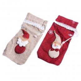 Eko skarpeta worek jutowy na prezenty świąteczne 30x14cm