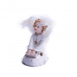 Aniołek z książką świecąca figurka ozdoba świąteczna 10 cm