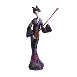 Wyjątkowa figurka JAPOŃSKA GEJSZA Z GITARĄ 35cm