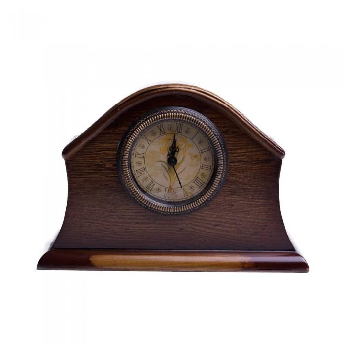 Ozdobny stojący drewniany zegar kominkowy na prezent
