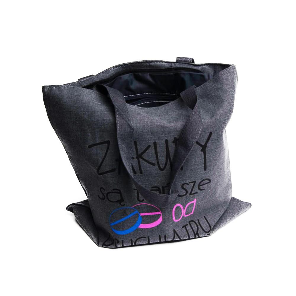 ba36ad52dd001 Eko torba płócienna – torby na zakupy ZAKUPY SĄ TAŃSZE OD PSYCHIATRY