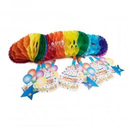 Dekoracja girlanda z bibuły na roczek urodziny
