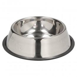 Duża metalowa miska dla psa na gumie antypoślizgowej 1,2 l