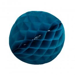 ROZETA KULA PAPIEROWA niebieska plaster miodu 25 cm