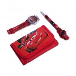 Zestaw dla dziecka portfel zegarek długopis Cars Auta Zygzak