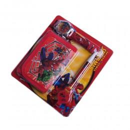 Zestaw dla dziecka portfel zegarek długopis SPIDERMAN