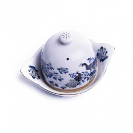 Pojemnik na cytrynę | Cytrynówka porcelana japońska PAW NIEBIESKI