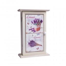 Drewniana szafka skrzynka na klucze biała LAWENDA prowansja