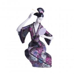 Duża figurka JAPOŃSKA GEJSZA GEISHA z lusterkiem cm
