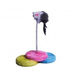 Playing Mouse - Futerkowa mysz na sprężynie do zabawy dla kota