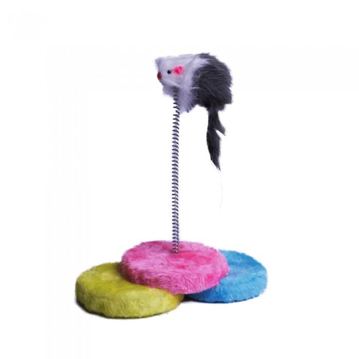 Playing Mouse   Futerkowa mysz na sprężynie do zabawy dla kota
