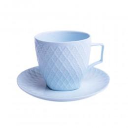 Zestaw kawowy 6 osobowy - Filiżanki do kawy lub herbaty NIEBIESKA KRATA