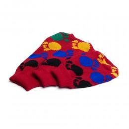 Ciepły sweterek ubranko dla psa lub kota CZERWONY W ŁAPKI