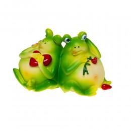 Skarbonka żaba żabki z sercem na prezent walentynkowy