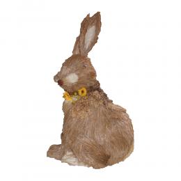 Duży królik ZAJĄC ZE SŁOMY ręcznie robiony - Dekoracje wielkanocne