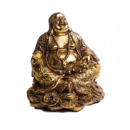 Budda siedzący figurka Buddy Buddha symbol bogactwa Feng shui