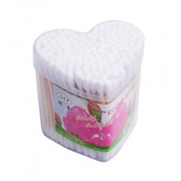 Patyczki higieniczne do uszu pudełko serduszko 60 sztuk