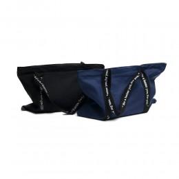 Duża miejska płócienna torba na zakupy shopper bag na ramię