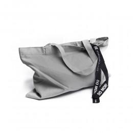 Duża płócienna torba na zakupy szara shopper bag torba uniwersalna