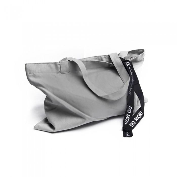 3d81cab0b593f Duża płócienna torba na zakupy szara shopper bag torba uniwersalna