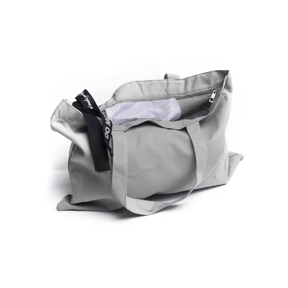c32bfbf05d463 Duża płócienna torba na zakupy szara shopper bag torba uniwersalna