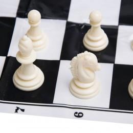Klasyczne szachy w drewniany pudełku figury + szachownica