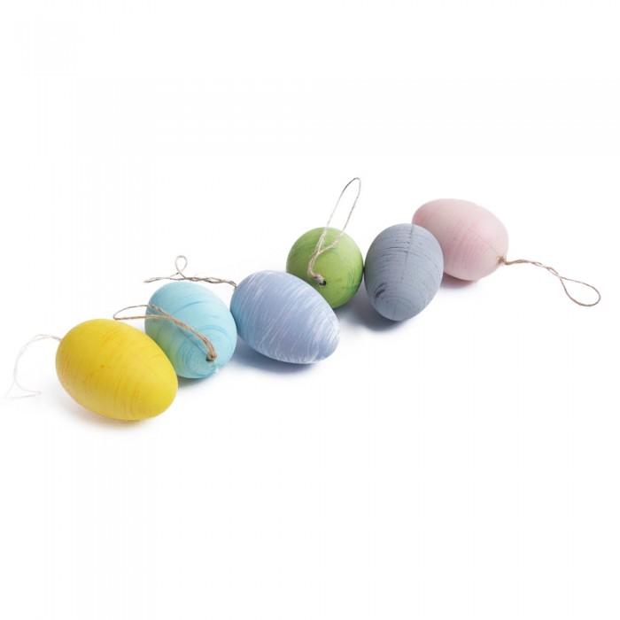 Pisanki wielkanocne zawieszki jajka styropianowe 6 szt jajka ozdobne