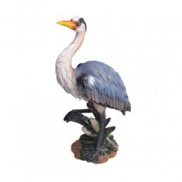 Duża czapla rzeźba figurka dekoracja ozdoba salonu prezent dla myśliwego