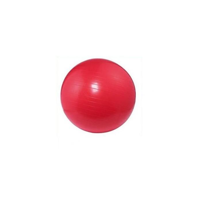 czerwona Piłka gimnastyczna do ćwiczeń fitness rehabilitacji 75 cm duża